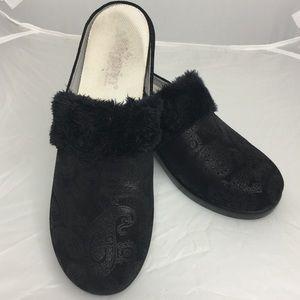 Alegria Isabelle Black Beauty Slip On Clog Mule